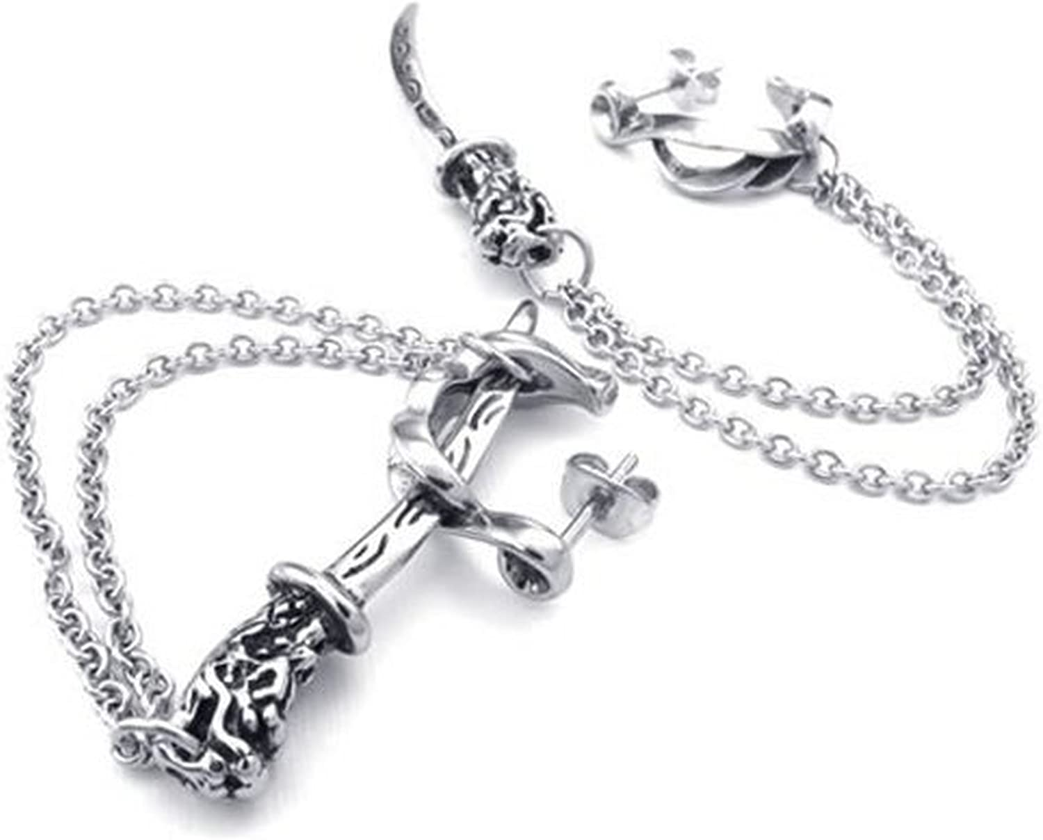 Gold Silver CLJSTORE Jewelry Mens Stainless Steel Necklace Heavy Wide Cross Links Chain