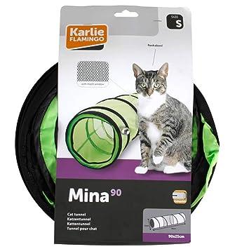 FLAMINGO Túnel de Juego para Gatos 25x90 cm Tela Verde Plegable Juguete Mascota: Amazon.es: Productos para mascotas
