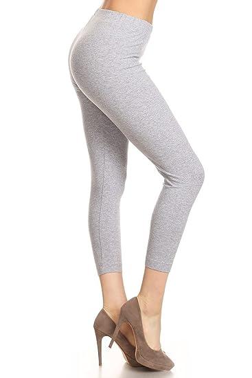 3720c9e5ac Leggings Depot Women's Premium Cotton Soft Capri Yoga Pants NCL27 at ...