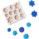 3D Snowflake Fondant Mold, Silicone Mold for Sugarcraft Cake Decoration, Cupcake Topper, Polymer Clay, Soap Wax Making Crafting Projects