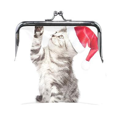 Amazon.com: Monedero gatos Navidad gatito nuevo año invierno ...