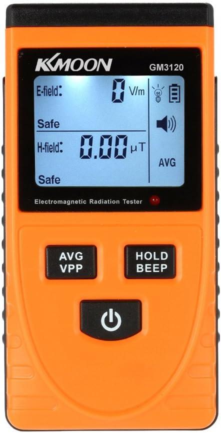 Digital LCD Detector de Radiación Electromagnética Medidor Dosímetro Tester Mostrador