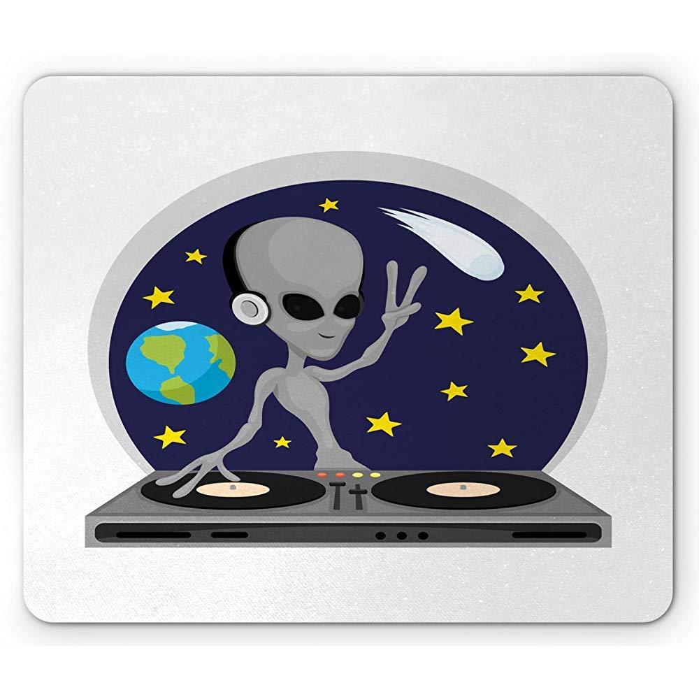 Science Party Mouse Pad, Ilustración de DJ Alien Tocando un ...