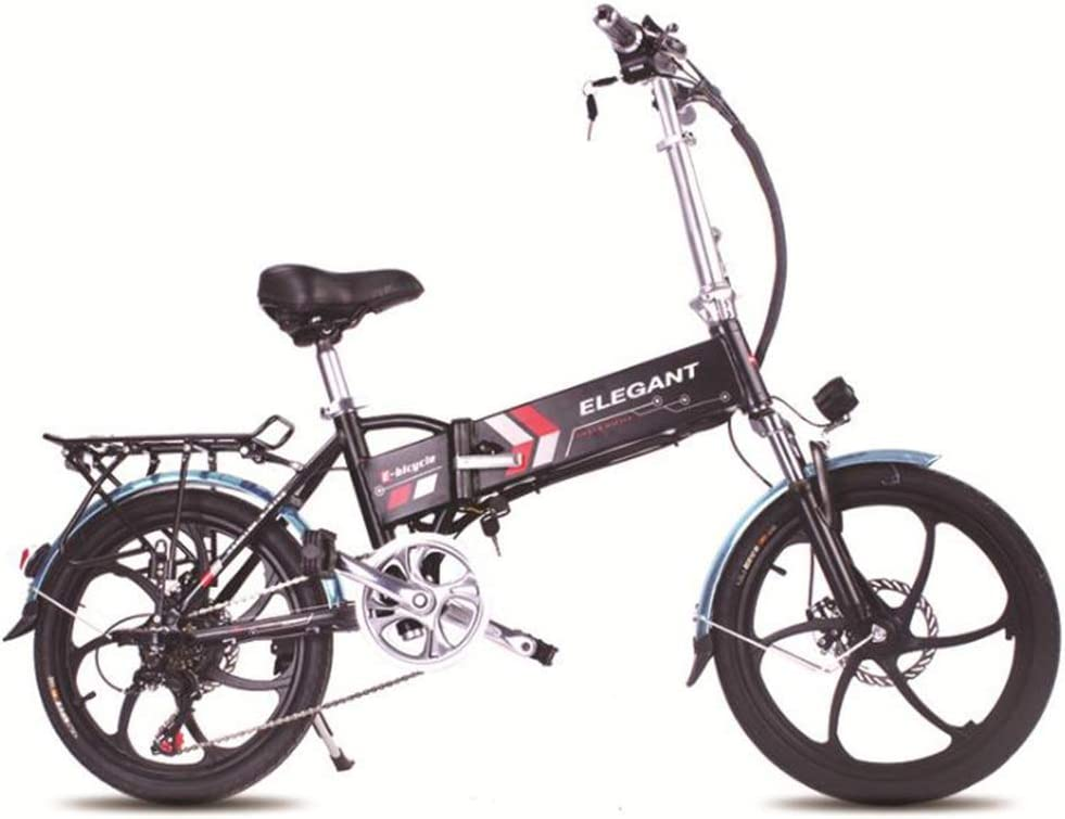 TX Bicicleta Eléctrica Plegable Súper Ligera Unisex Adulto Bicicleta De Montaña Doble Freno De Disco,Negro: Amazon.es: Deportes y aire libre