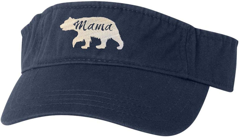 Adult Mama Bear Embroidered Visor Dad Hat
