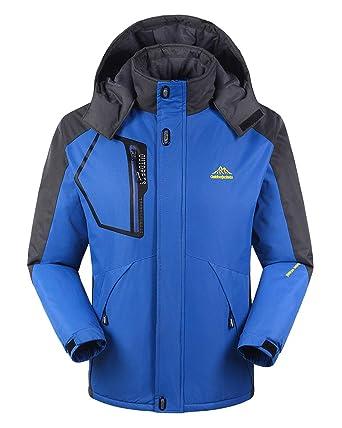 96e2d4ff7ec60 Chaqueta para Hombre Abrigo Impermeable para Deportes Esquí Invierno  Chaqueta de Nieve a Prueba Viento con Capucha  Amazon.es  Ropa y accesorios