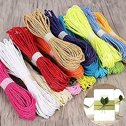 eS³kube Ning Ju Colourful DIY Paper Rope Threads for Various Art and Craft  Projects and Decoration - Set of 20