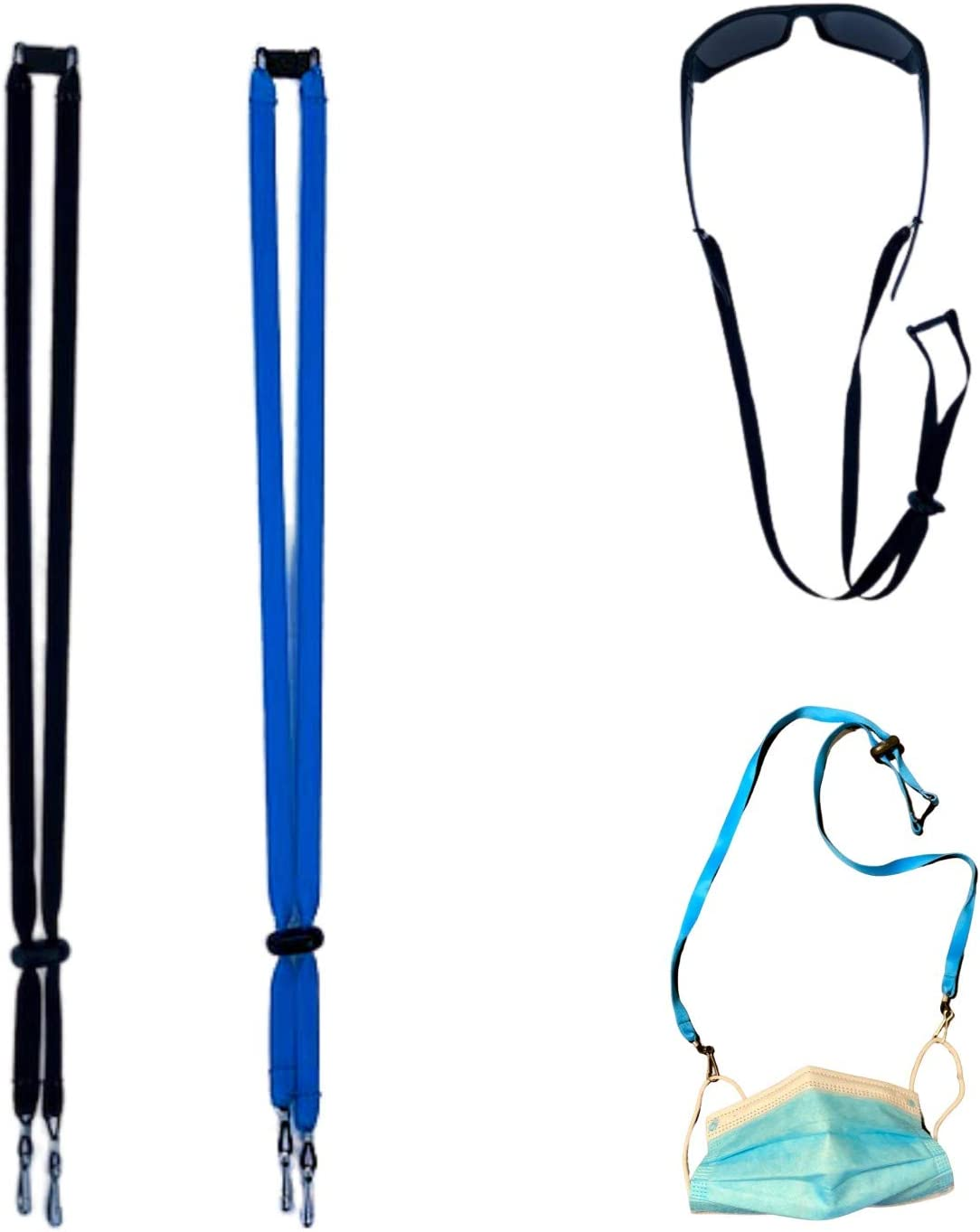DIAMOND HAWK Face Mask Lanyard with Clips – Lanyard for Mask for Kids – Adjustable Length Multi-functional – Ideal for Mask Chains and Cords for Women - or Face Mask Holder for Any Age