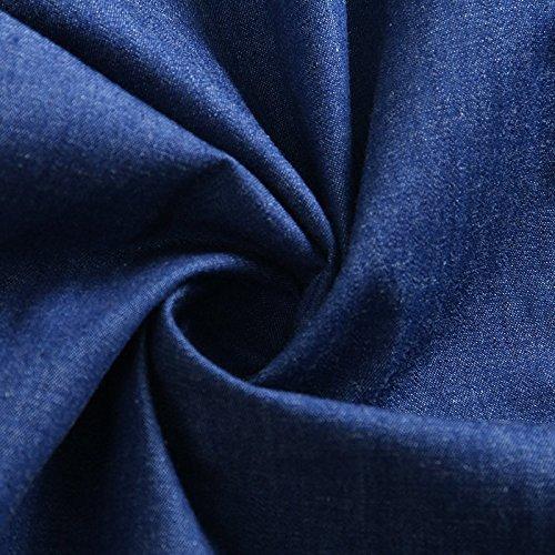 de Robe Taille Une Longue Style Boy M Robes MiGMV Blue 2018 Robe Jupe l'usure Cow tape Denim l't Nouveau Ex7n8p6qw
