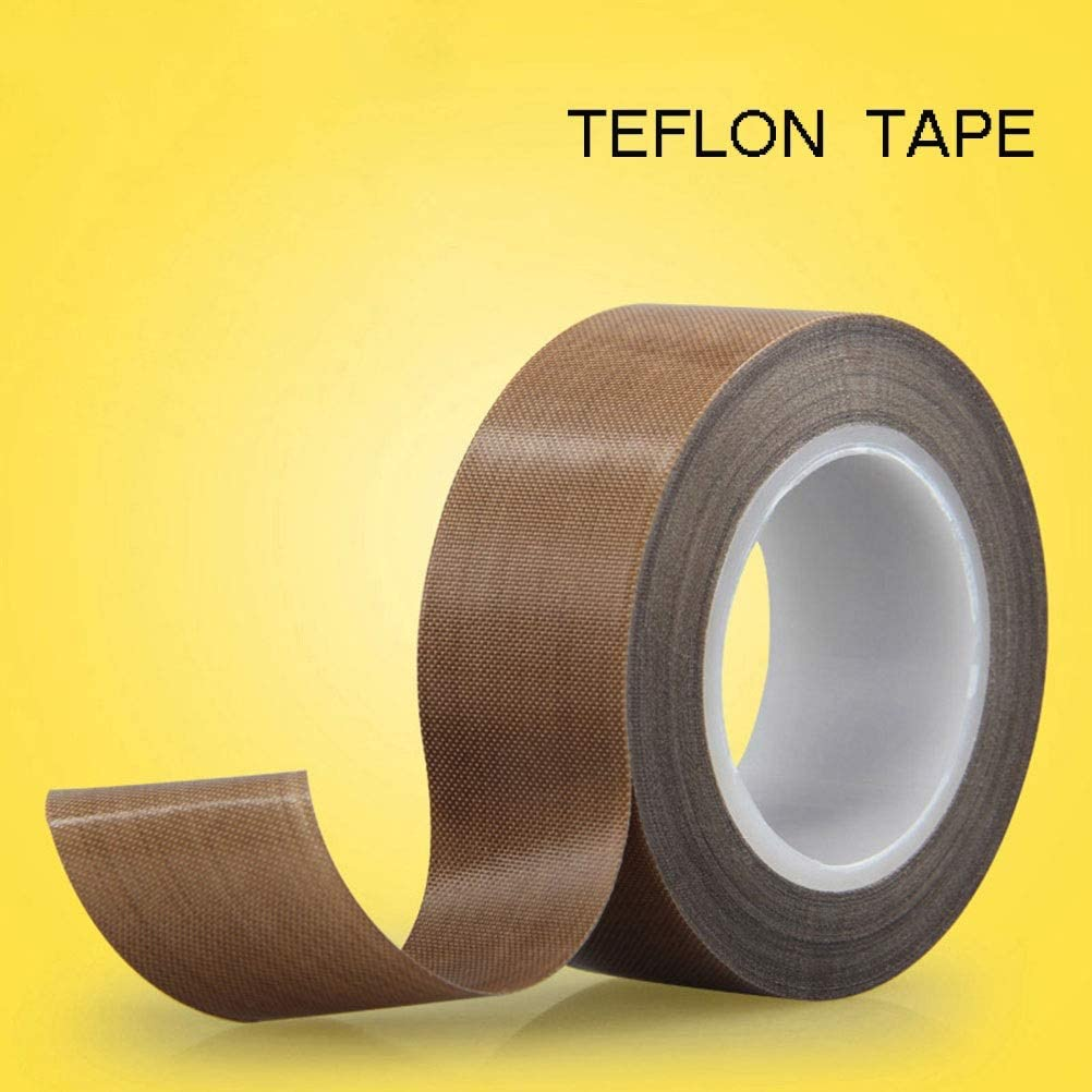 Farbe : Brown-0.13mm, Size : 13mm-10m Mujin Gold Finger Teflonband Hitzebest/ändige K/ältebest/ändig mit geringer Reibung Feuer Isolierung 300-Grad-Hitzebest/ändige 260-Grad-PE Clinker Rohrband