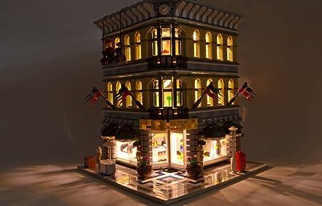 Brickstuff caldo bianco led luce di striscia starter kit per lego