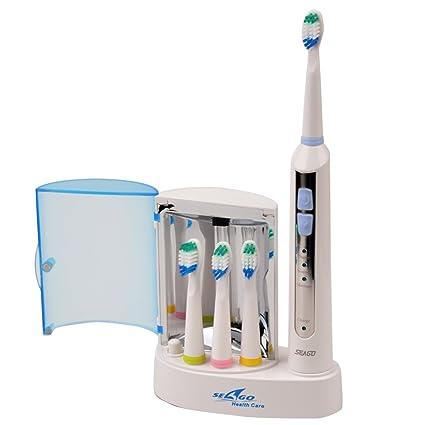 CkeyiN® al agua sumergible recargable-Cepillo de dientes eléctrico 4 con filtro y cabezales