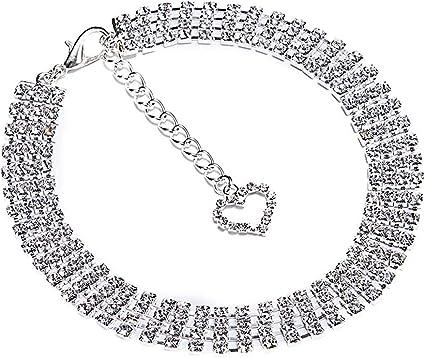 Bling Rhinestone Suede Dog Collar/&Leash Diamante for Chihuahua Yorkie Schnauzer