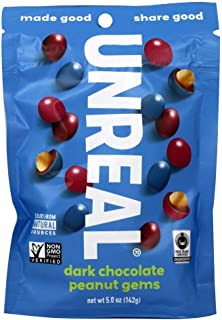 product image for UNREAL Dark Chocolate Peanut Gems | Non-GMO, Vegan Certified, Colors from Nature | 1 Bag