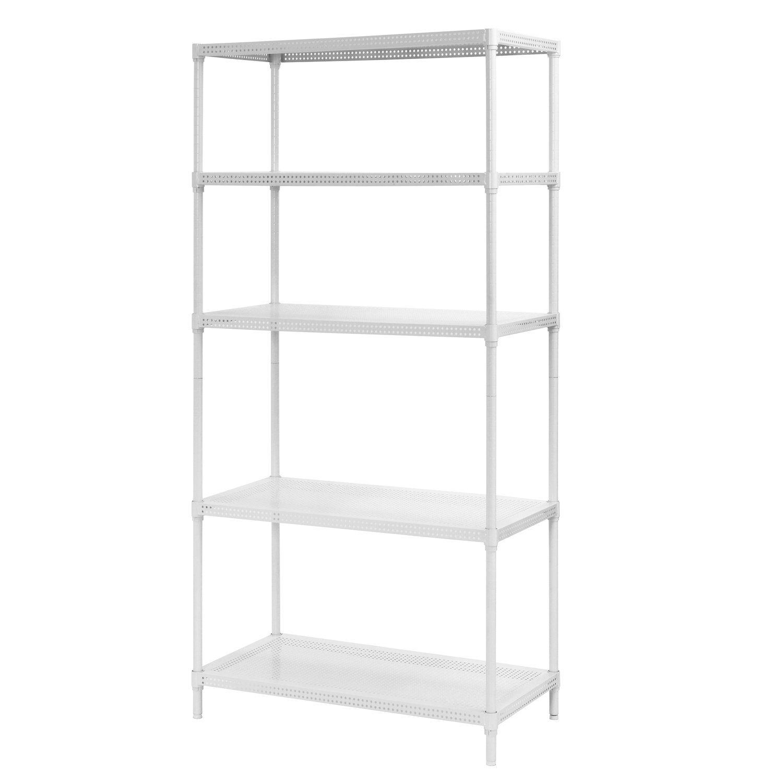 Amazon com muscle rack pws351871 5w steel wire shelving 5 adjustable shelves 330 lb per shelf capacity 71 height x 35 width x 18 depth white