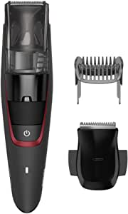 Philips Beardtrimmer Series 7000 Corded/Cordless Vacuum Beard Trimmer with High Performance Vacuum System, 0.5mm Precision Settings and 75 min Cordless Use, Black, BT7500/15