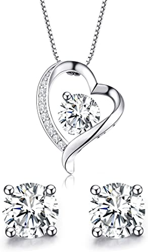 circonia cúbica 16 años Cumpleaños Colgante Joyería Pendientes de plata esterlina
