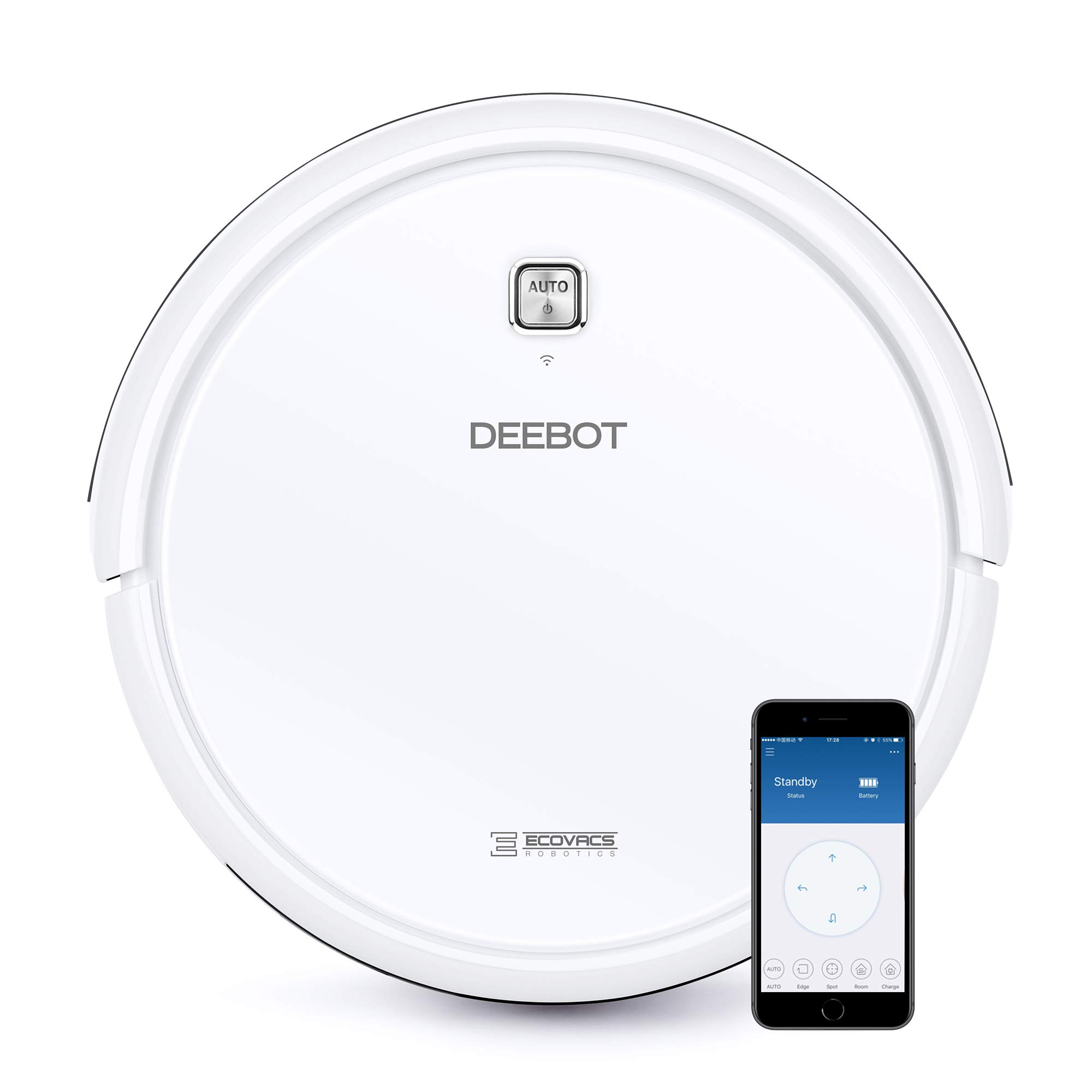DEEBOT N79W+ Robotic Vacuum Cleaner with Max Power Suction, Up to 110 min Runtime, Hard Floors & Carpets, Works with Alexa, App Controls, Self-Charging, Quiet + 2 Year Warranty