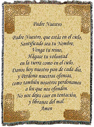 - Pure Country Weavers | Lord's Prayer Padre Nuestro Spanish Woven Tapestry Throw Blanket with Fringe Cotton USA 72x54