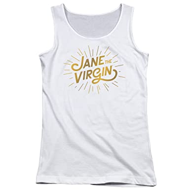 15b837ef5 Jane The Virgin Comedic Drama Series Golden Logo Juniors Tank Top Shirt:  Amazon.co.uk: Clothing