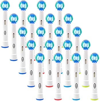 HLC Pack de 20 recambios cabezales para cepillo eléctrico ...