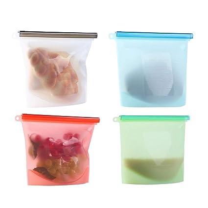 SouthLight Bolsa de cocina reutilizable de silicona para la conservación de alimentos de Bestpartner. Hermética y versátil, para congelar, cocinar al ...