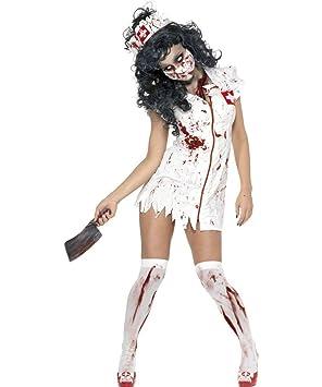 Disfraz de enfermera zombie para mujer, ideal para Halloween ...