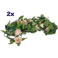 SODIAL(R) Artificial 2x Subio Guirnalda De Flores De