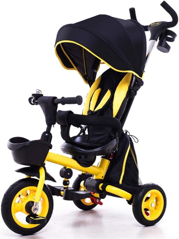 lquide Triciclo para Niños De 1 A 3 Años, Triciclo Infantil Triciclo 1-3-6 Años Mi Primer Paseo Triciclo Infantil Bicicleta para Pedal para Exterior con Bocina