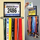Gone For a Run BibFOLIO Plus Race Bib and Medal Display   Wall Mounted - Displays up to 24 medals and 100 race bibs