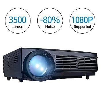 wimius Proyector Full HD LED Proyector soporta 1080p 3500 Lumen ...