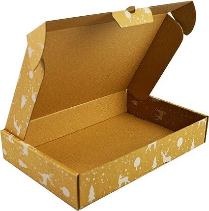 Embalaje grande con impresión navideña 440x340x90mm, una caja de cartón ideal para regalos de Navidad, tiene un cierre adicional, envío de almacenamiento en movimiento (30): Amazon.es: Oficina y papelería