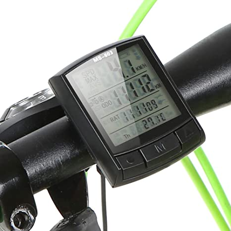 LPsweet Ordenador De Bicicleta, Bicicleta Impermeable del Velocímetro Y El Odómetro De Múltiples Funciones De Retroiluminación De LCD, Displaytracking Distancia AVS Tiempo Velocidad: Amazon.es: Deportes y aire libre