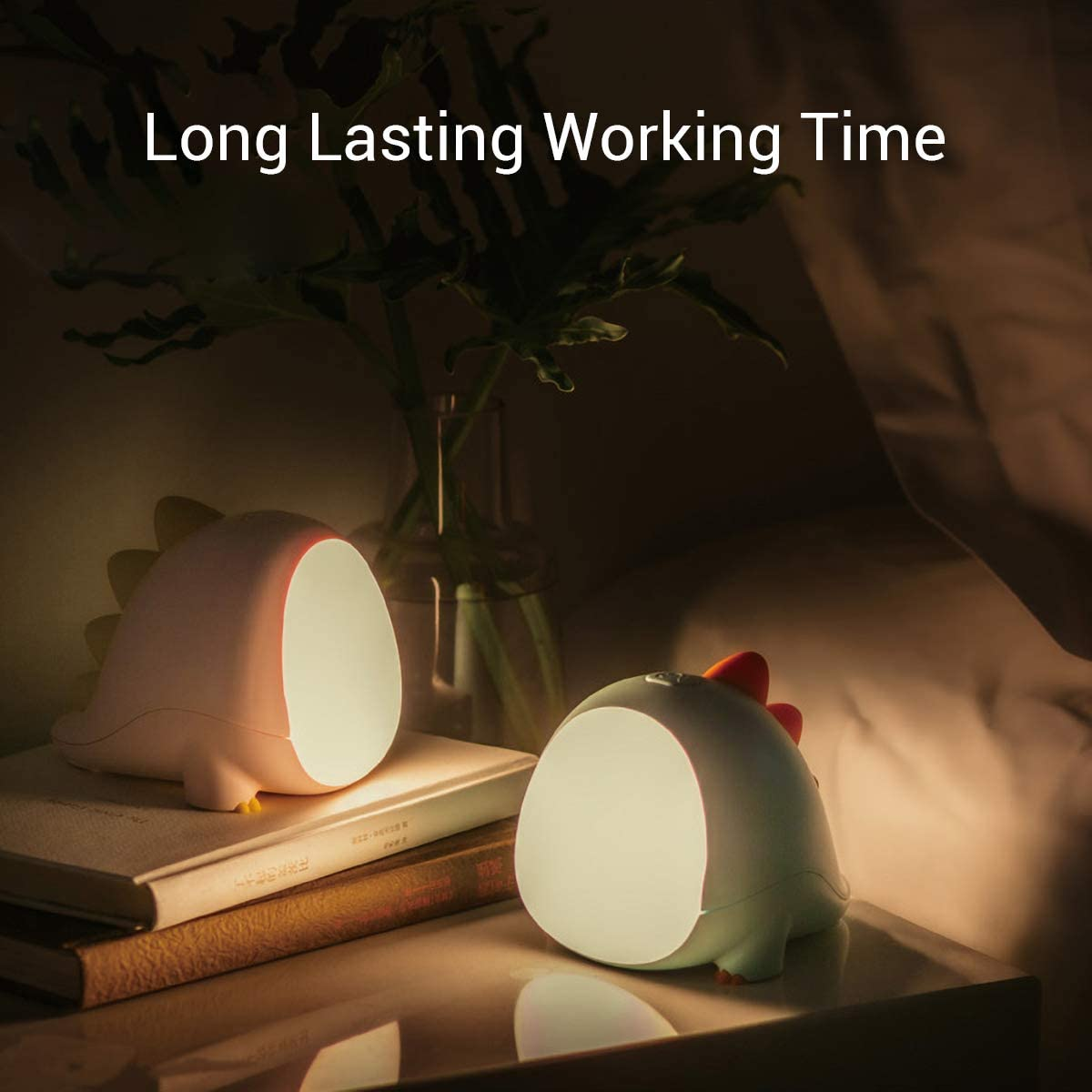 45 Minutes Timer for Sleep Aid Green Children Gifts Rechargeable /& Dimmable Bedside Lamp for Breastfeeding Night Light for Kids Yoobao Dinosaur Nursery Nightlight Kids Lamp with Dual Light Modes
