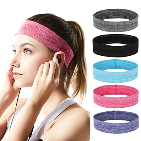 b0c2251a453d Image Unavailable. Image not available for. Color  Jalas Sports Headbands  for Men and Women Moisture Wicking Sweatbands for Running Yoga Crossfit  Workout ...