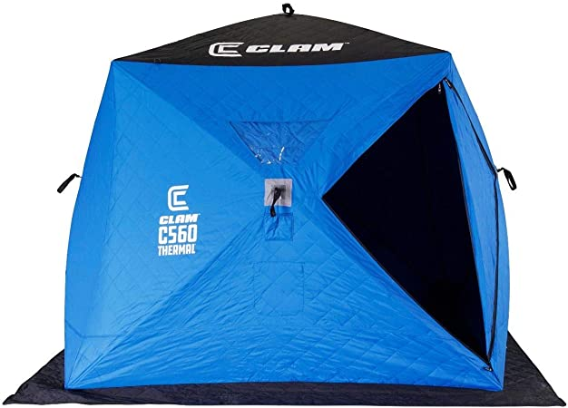 CLAM 3-4 Person Lightweight Pop Up Ice Fishing Tent