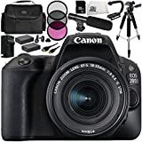 Canon EOS 200D DSLR Camera with EF-S 18-55mm f/4-5.6 IS STM Lens 14 Accessory Bundle – Includes 32GB SD Memory Card + 2x Replacement Batteries + MORE - International Version (No Warranty)