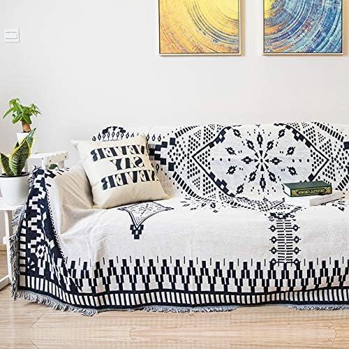 ARIESDY - Manta de algodón 100% Tejida, para sofá, Toalla, Funda ...
