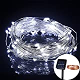GESIMEI Waterproof 30M 300LED Solar Copper Wire Fairy String Light Outdoor Garden Home Party Yard Decor White