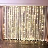 FEFELightup Window Curtain Lights 9.8×9.8ft 300 LEDs Night Lights