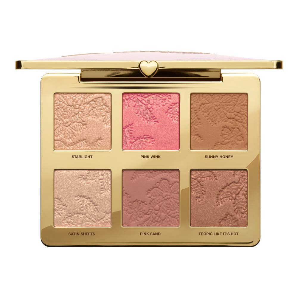 Natural Face Highlight, Blush, and Bronzing Veil Face Palette