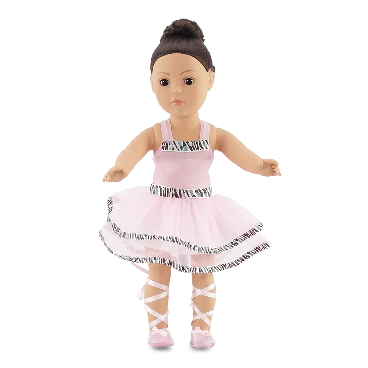 Amazon com fits american girl doll ballet ballerina dance outfit 18 inch doll clothes clothing includes 18 shoes toys games