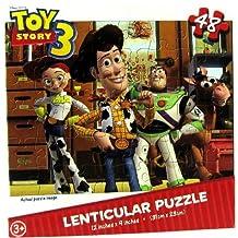 Toy Story 3 48 Piece Lenticular Puzzle - Woody, Buzz, Jessie, Rex, & Bullseye by Cardinal