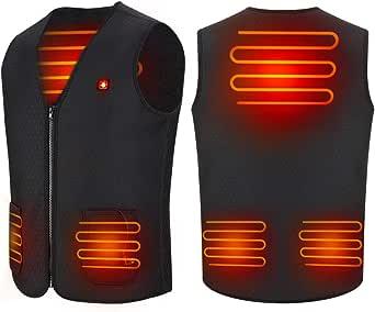 Haofy Chaleco de Mujer con calefacción USB, Chaleco Termico de 5 V con calefacción, Chaquetas con Calefaccion para Hombres y Mujeres, Alimentado por una batería Recargable del Banco de energía