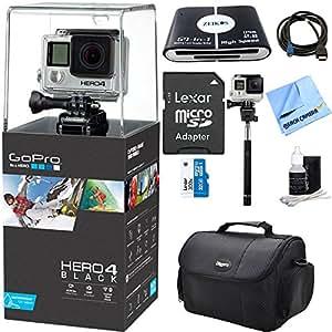 hero 4 black 4k action camera ultimate kit includes gopro hero 4 black 32gb. Black Bedroom Furniture Sets. Home Design Ideas
