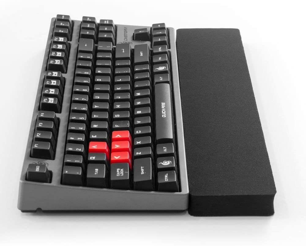 Grifiti Fat Wrist Pad 14 4 X 14 X 0.75 Inch Keyboard Wrist Rest for Tenkeyless Mechanical and Gaming Keyboards (Black Nylon)
