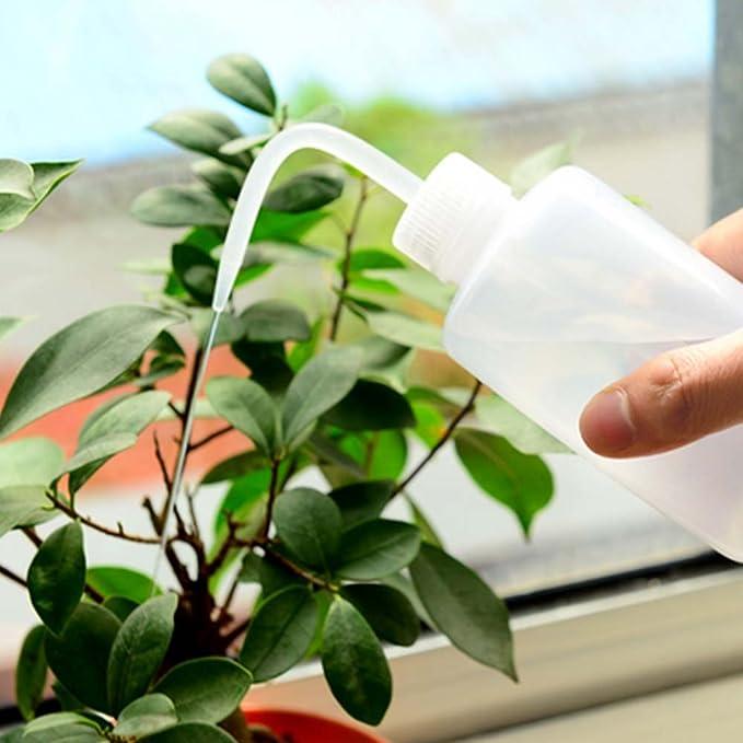 Planta botella de agua, 250 ml 500 ml pico Dropper suculentas verter eléctrica herramienta de jardinería botellas de plástico maceta plantas botella de ...