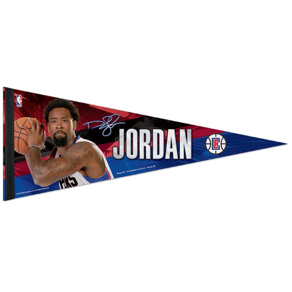 WinCraft NBA Los Angeles Clippers DeAndre Jordan Premium Pennant, 12 x 30-Inch