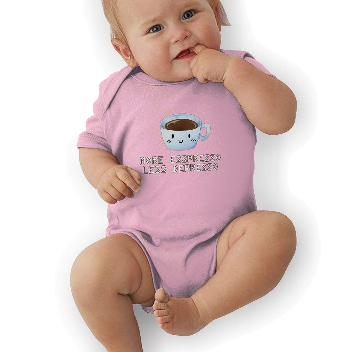Toddler Baby Girls Bodysuit Short-Sleeve Onesie More Espresso Less Depresso Print Outfit Autumn Pajamas