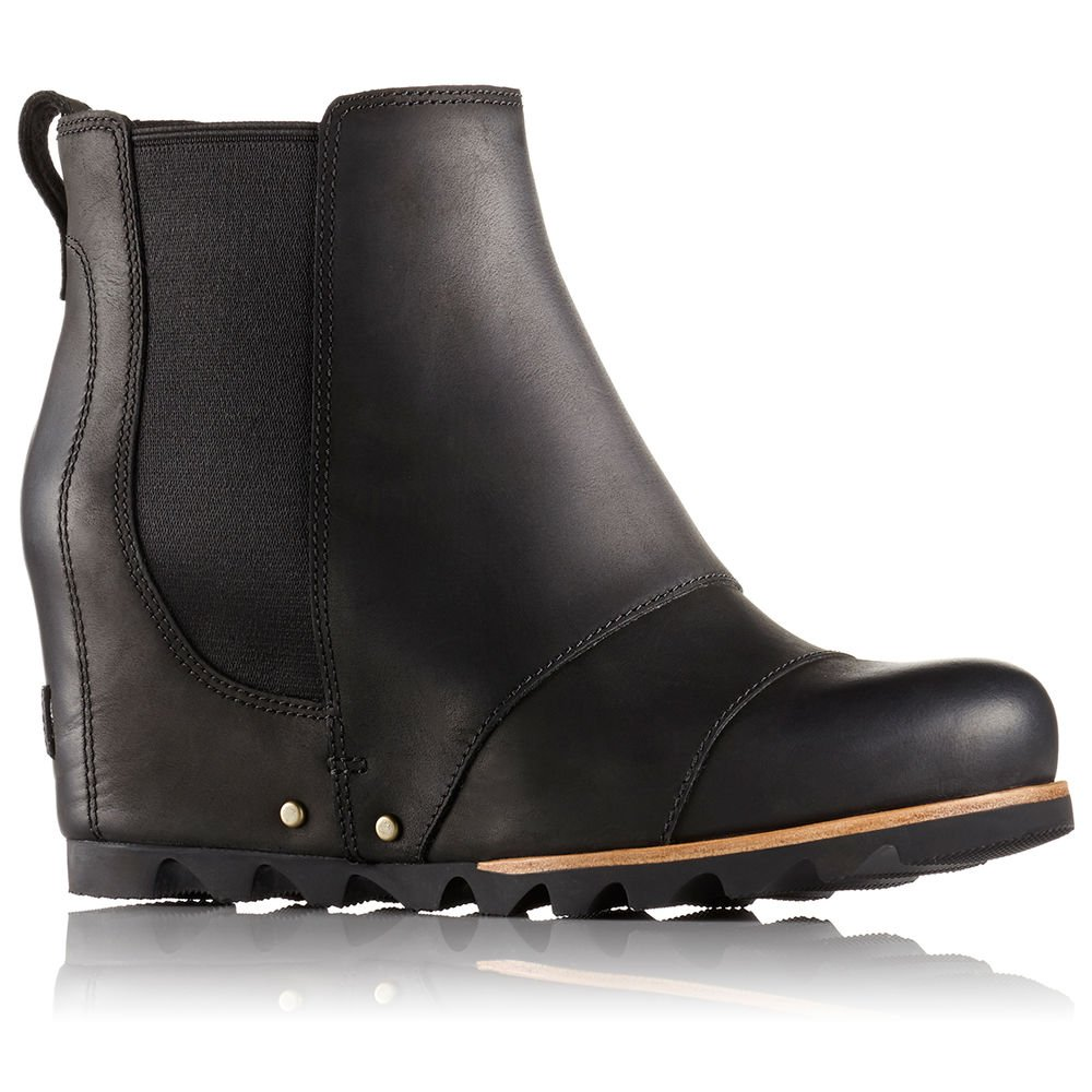 Sorel Women's Lea Wedge Booties, Black/Quarry, 8.5 B(M) US